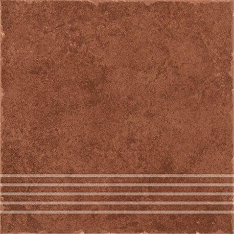 Ceramika Gres Riva RIV 07 brown stopnica 33 x 33 cm