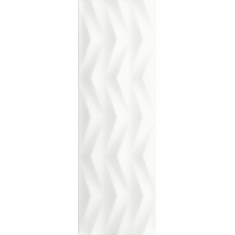 Ceramika Color Axis White 25 x 75 cm