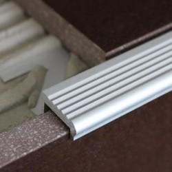 Lišta rohová ukončovacia - Schodová hliník elox
