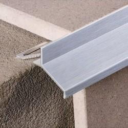 Lišta rohová ukončovacia - Balkónový profil sivý H11
