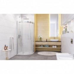 Aquatek TEKNO S04 90x90 Sprchový kút oblúkový s dvomi zásuvnými dverami