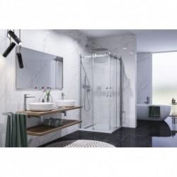 Aquatek TEKNO A4 90x90 Sprchový kút oblúkový s dvomi zásuvnými dverami