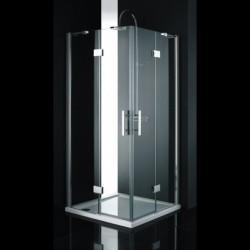 Aquatek CRYSTAL A4 90x90 Sprchový kút štvorcový s dvomi otváracími dverami