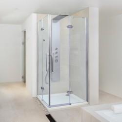 Aquatek VIP2000 A4 90x90 Sprchový kút štvorcový s dvomi otváracími dverami