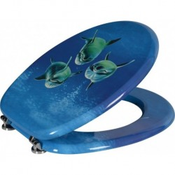 Aqualine FUNNY WC sedátko s potiskom delfíni, MDF