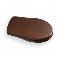 Kerasan RETRO WC sedátko, dřevo masiv, orech-chróm