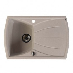 Sapho Granitový zabudovateľný drez s odkvapom 77x51 cm, béžová