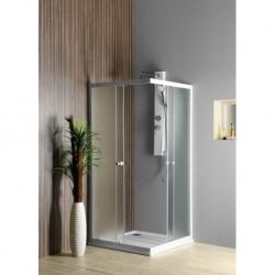 Aqualine ALAIN štvorcová sprchová zástena, 800x800mm, sklo BRICK