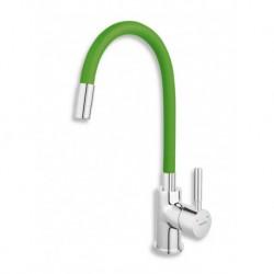 Novaservis Drezová stojánková batéria s elastickým ramenom,zelená-chróm