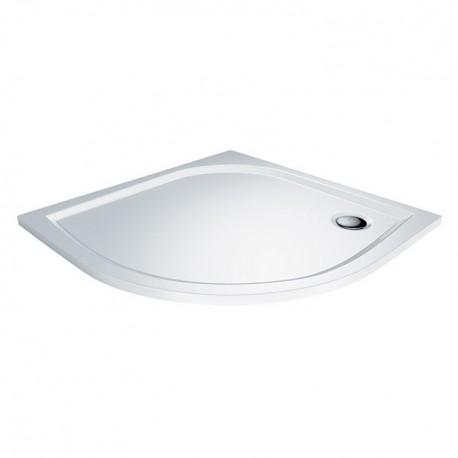 Sprchová vanička štvrťkruhová 90 x 90 x 3 cm liaty mramor