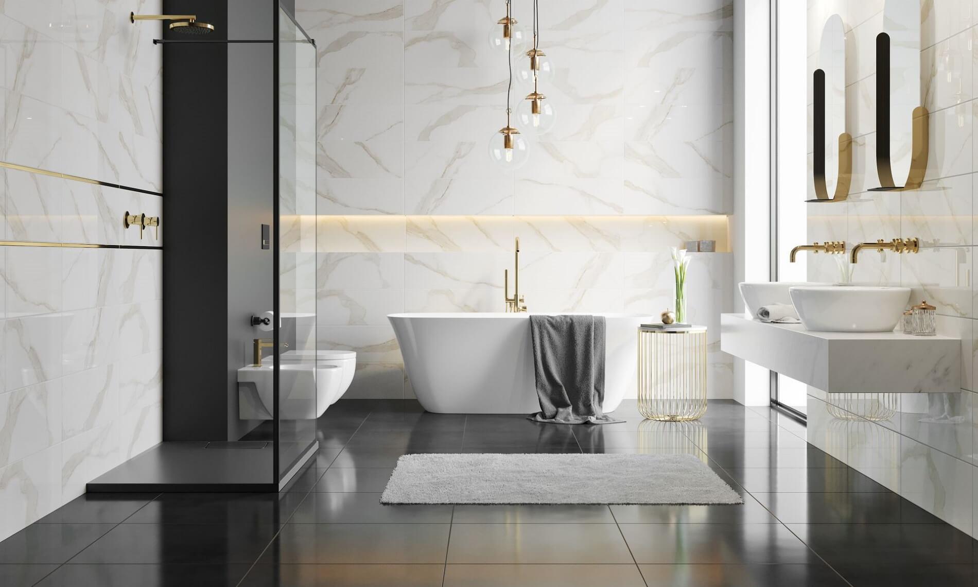 Ceramika Color kúpeľňa Calacatta zlatá